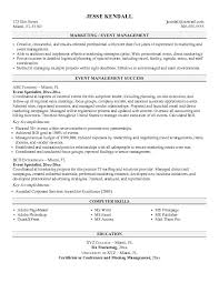 event planner resume sample - Events Planner Resume