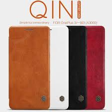 nillkin qin leather case oneplus 3 a3000 a3003 oneplus 3t