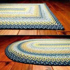 yellow kitchen mat blue and gray rugs round braided area 4 foot woven placemats