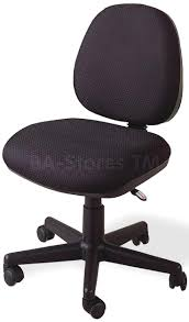 traditional desk chair black office without arms