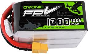 <b>OVONIC</b> FPV Lipo Battery 1300mAh <b>22.2V</b> 6S <b>100C</b>: Amazon.co.uk ...
