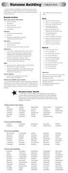 Resume Building Tips Check Out Today's Resume Building Tips Resume Resumepowerwords 15
