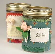 How To Decorate A Jar Babi Sugarman Sewing Craft Lace Decor Jam Jars Somerset Studio 100
