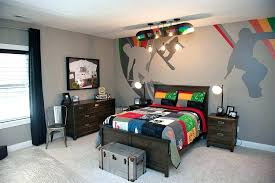sports locker for bedroom sports room furniture view in gallery custom mural on the wall and
