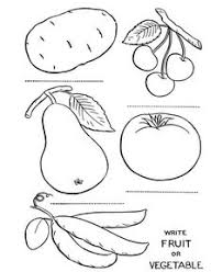 Small Picture Fruit And Vegetable Coloring Pages Free Coloring Pages For 1
