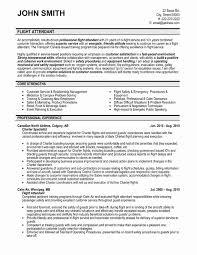 Entry Level Flight Attendant Resume Unique Best Of Flight Attendant Experience Resume Resume Design