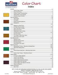 Mohawk Color Chart Color