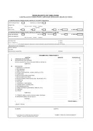 Formato De Presupuestos Barca Fontanacountryinn Com