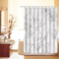 white marble fabric shower curtain set bathroom curtains liner bath accessories