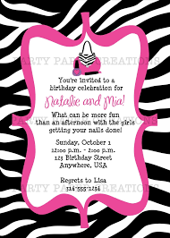 invitations to print birthday invitation glamour girl invitations to print birthday invitation glamour girl birthday party printable