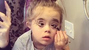 little wears mom s makeup and she is fierce
