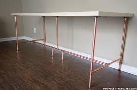 how to build a copper pipe desk