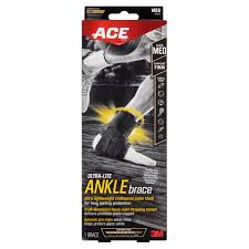 Ace Ultra Lite Ankle Brace Medium Black 1 Pack Walmart Com