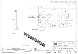 fence drawing. Steel Lattice Fence Drawing CMI T