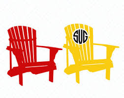 adirondack chair silhouette. Modren Silhouette Adirondack Monogram SVG Files Chair Monogram Cutting  Silhouette Cricut Layered Vector Dxf Eps Png Jpg Pdf D074 And Silhouette R