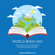 reading open book cartoon flat background of open book with pretty landscape vector of reading open