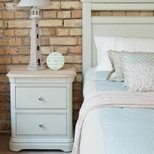 Large Bedroom Chest Of Drawers Painted Oak Large 2 Drawer Bedside Chest Lyon Bedroom Furniture