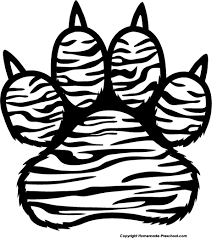 tiger paw clipart black and white. Exellent Tiger Clip Freeuse Stock Letters Format Pencil In Color For Vector Free Tiger  Paw Clipart Black And White Inside Paw Clipart Black And White E