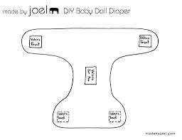 baby diaper template made by joel diy baby doll diaper with fabric poo
