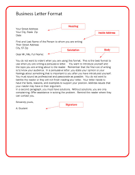 Best Solutions Of Writing Formal Business Letter Format In Format