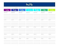 Monthly Dinner Planner Monthly Meal Planner Template Excel Dinner Calendar