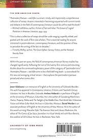amazon com postmodern postwar and after rethinking american  amazon com postmodern postwar and after rethinking american literature new american canon 9781609384272 jason gladstone andrew hoberek
