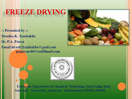 Freeze Dried Food Conversion Chart Freeze Drying Ppt