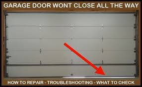 garage door will not close all the way