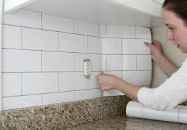 faux kitchen tile wallpaper. do you love the look of white subway tile, but can\u0027t commit to faux kitchen tile wallpaper crazy craft lady