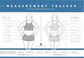 Workout Measurement Chart Body Measurement Tracking Chart