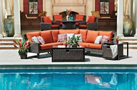 wrought iron patio table and 4 chairs. Patio Furniture With Orange Cushions Wrought Iron Table And 4 Chairs