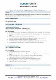 Certified Dental Assistant Resume Samples Qwikresume