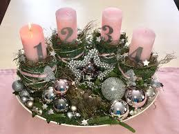 Adventskranz Weihnachtsdeko Rosa Silber Weihnachtsdeko