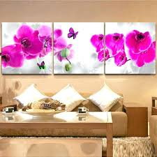wall art modern oil painting bedroom decor pink orchid flower picture paint on canvas prints chinese metal uk