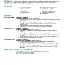 Caregiver Resume Sample Download Caregiver Resume Sample Haadyaooverbayresort with 41
