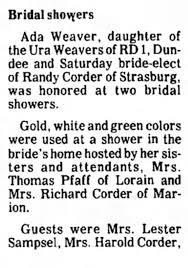 Ada Weaver Bridal Shower - Newspapers.com