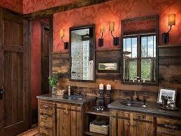 image of nice rustic bathroom wall decor