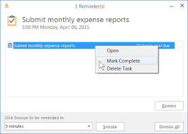 outlook tasks and reminders