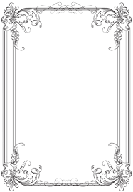 vintage frame border. Free Black Clip Art Borders And Frames Weddings | Custom Vintage Frame Four By Kingoftheswingers Border L