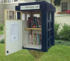 little libraries fun to build fun to use home fixated a tardis lfl no way