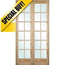 9301 8 0 tall 12 lite pine interior prehung double wood door