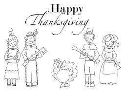 Thanksgiving Indian Coloring Pages Indian And Pilgrim Family