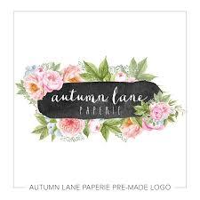 Peony Lane Designs Watercolor Floral Chalkboard Logo Watercolor Logo Floral