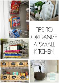 tips to organize a small kitchen jpg