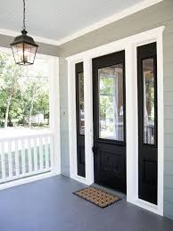 black front door with sidelights27 Cool Front Door Designs With Sidelights  Shelterness