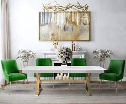 white and black dining room sets. Adeline White And Gold Rectangular Dining Room Set With Beatrix Chairs Black Sets I