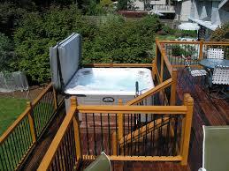 stone pool and hot tub