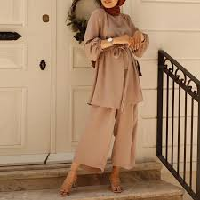 From top hijab accessories to toddler ramadan outfits, eid collective offers a number of eid and ramadan fashion ideas for the entire family. Eid Two Piece Muslim Sets Abaya Turkey Hijab Dress Caftan Kaftan Islamic Clothing 2 Piece Set Women Musulman Ensembles Outfits Islamic Clothing Aliexpress