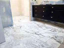 Adding Marble Flooring To The Master Bathroom Chris Loves Julia