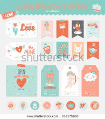 collection of valentines day gift s stickers and labels templates romantic and beauty posters
